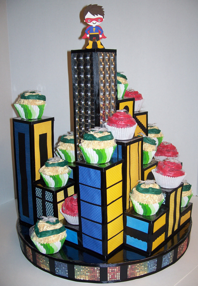 Superhero City Cupcake Stand Crafty Night Owl